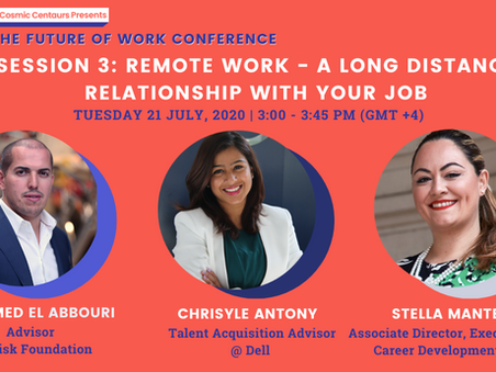 Cosmic Conference 2020 - Session 3: Remote Work, Recruitment,  Education & Entrepreneurship