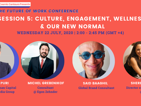 Cosmic Conference 2020 - Session 5: Company Culture, Employee Engagement & Wellness