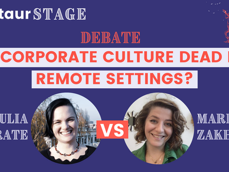 Centaur Stage Episode 1: Is Corporate Culture Dead in Remote Settings? with Iulia Istrate