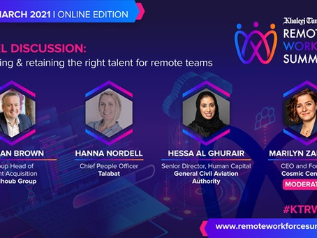 Cosmic Centaurs at the 2021 Khaleej Times Remote Workforce Summit
