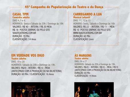 O Grupo In-Cena de Teatro começa o ano de 2019 na capital mineira