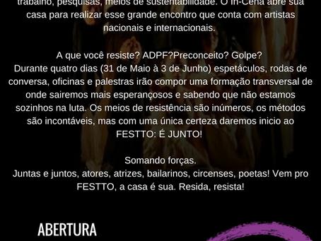 31 de Maio: PRIMEIRO DIA DE FESTTO
