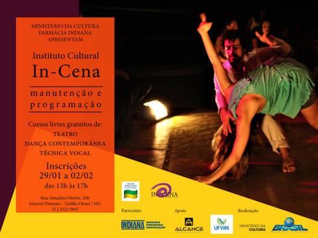 Abertas as vagas para os cursos de Teatro, Técnica Vocal e Dança Contemporânea para o primeiro semes