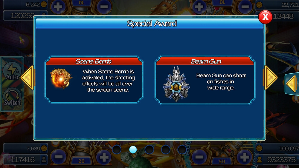 Live22 : เกมยิงปลา Ocean Dragon Special Award