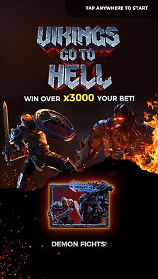 app screen Vikings Hell slot game เกมสล็อต