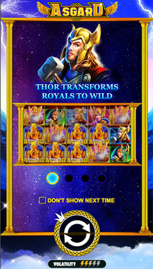 app screen Thor Asgard slot game เกมสล็อต