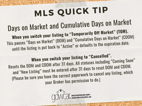 August's MLS Quick Tip Recap