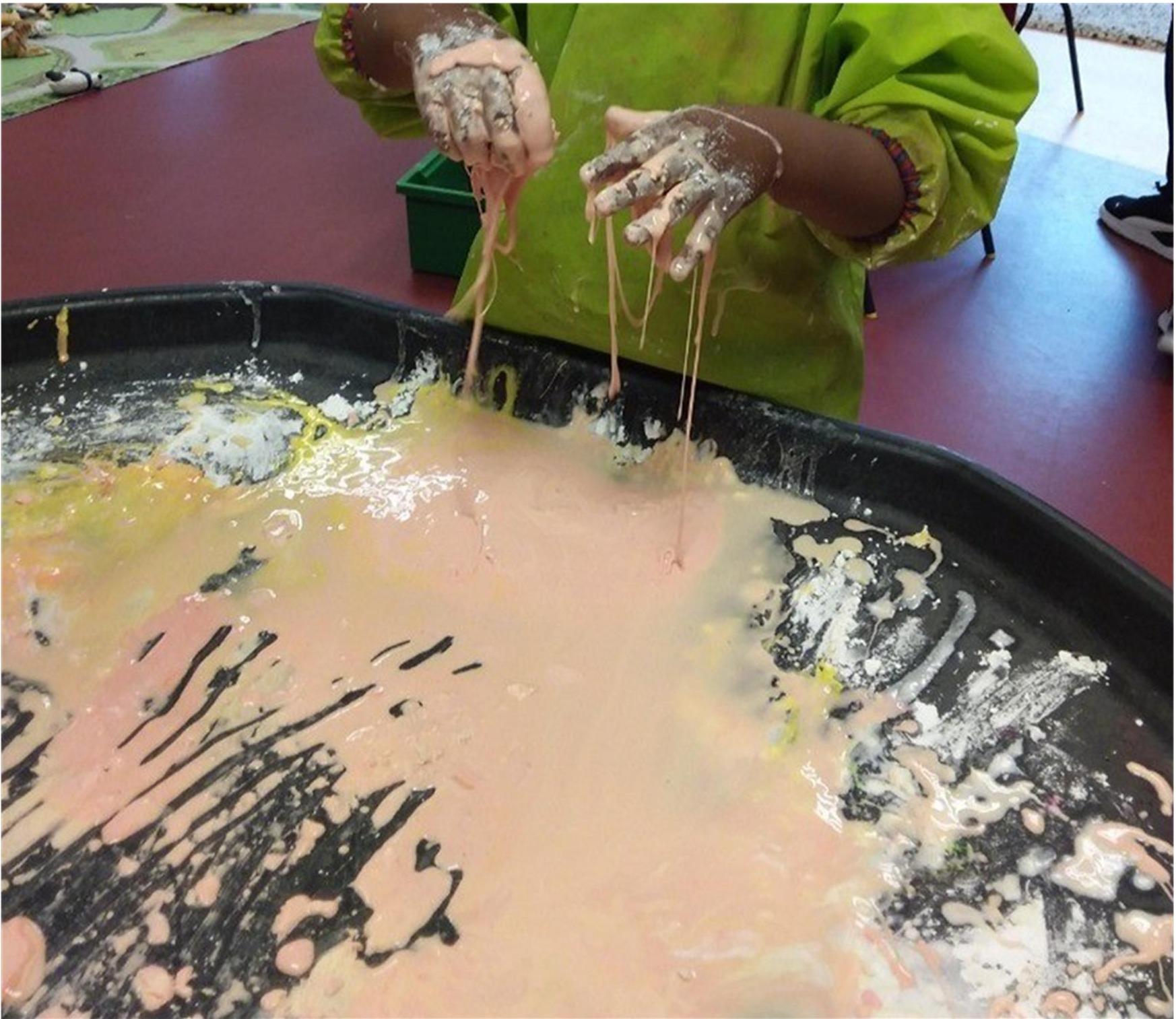 Corn flour play