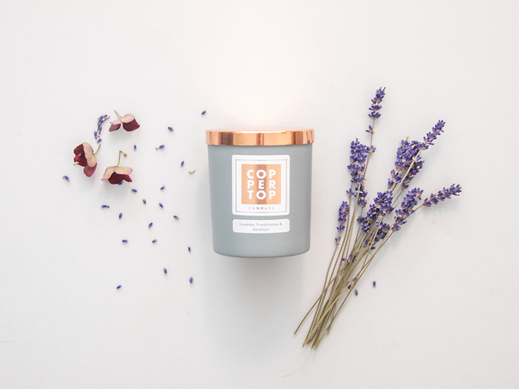 Lavender, Frankincense & Geranium Aromatherapy Soy Wax Candle
