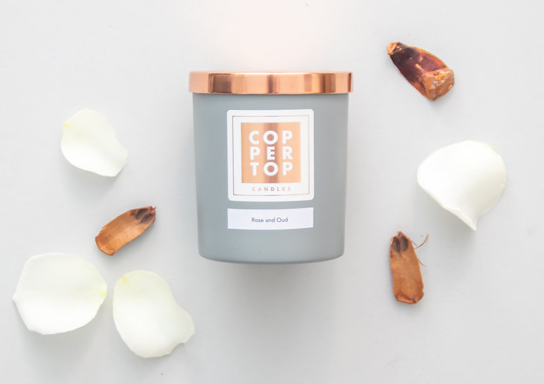 Rose & Oud Aromatherapy Soy Wax Candle