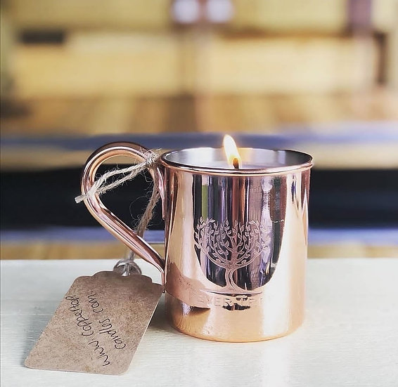 Gin & Tonic Soy Candle in Copper 'Fever-Tree' Mug
