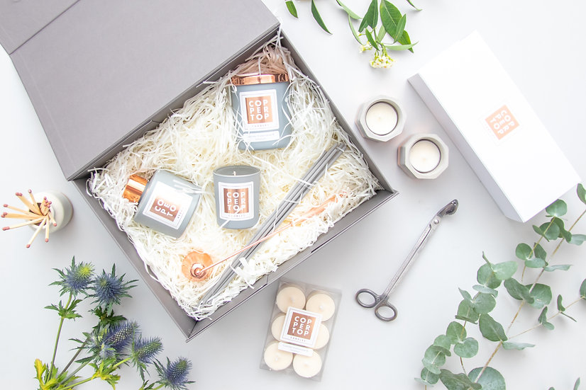Large Aromatherapy Candle & Room Diffuser Gift Set