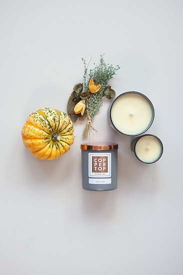 Amber Gold Aromatherapy Soy Wax Candle