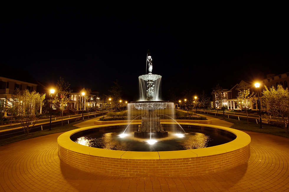 Fountain at Night-Norton Commons.jpg