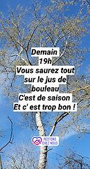 Jus de bouleau vs sève de bouleau olivia haquin naturopathe lille paris