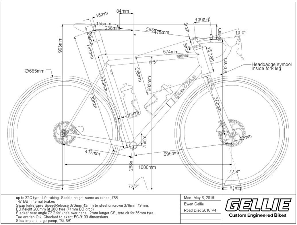 Order custom frame BikeCAD drawing