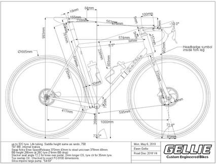 Order custom frame BikeCAD drawing