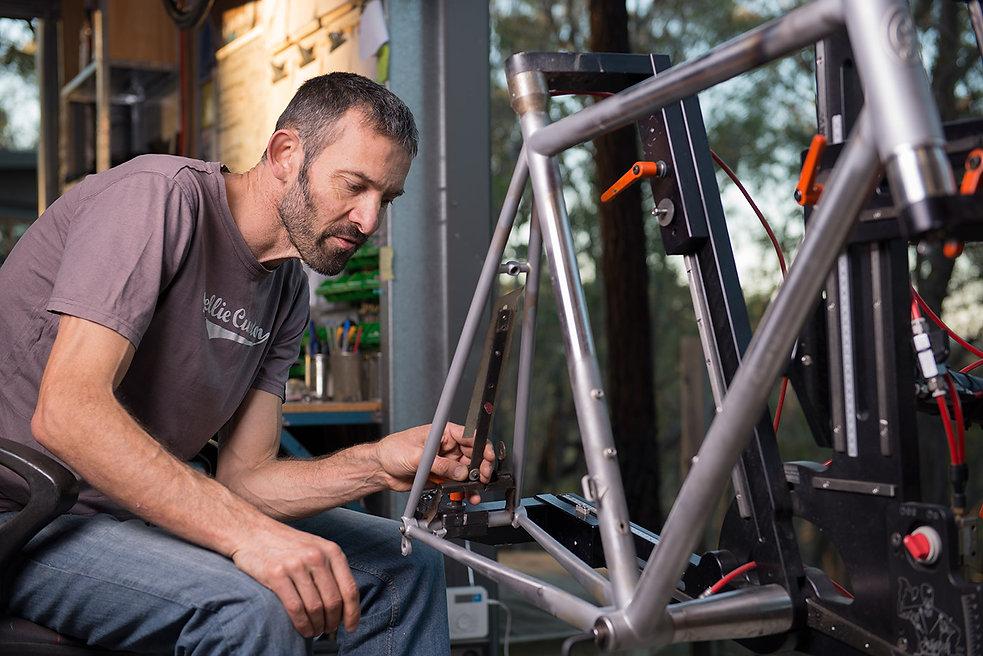 Ewen Gellie, custom framebuilder, mechanical engineer