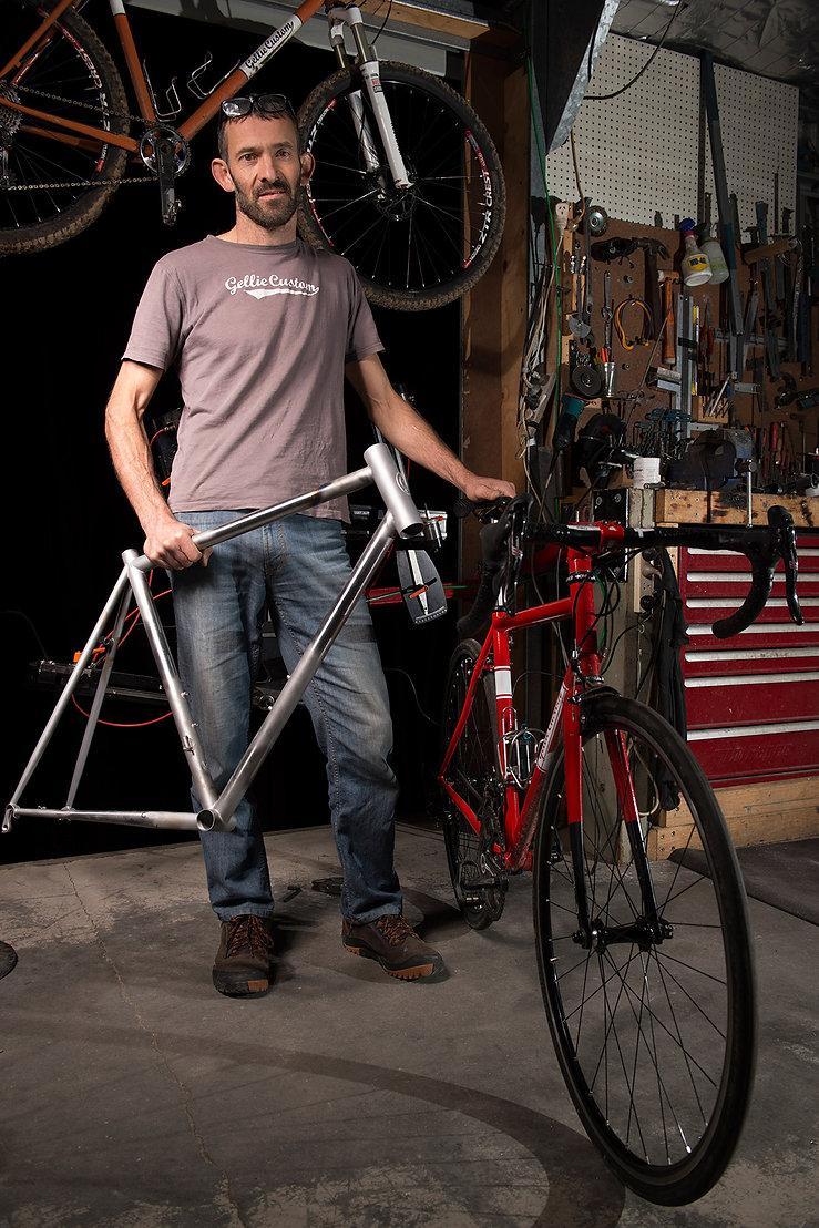 Gellie Cycles - your framebuilder in the workshop