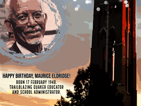 New Interviewee in the Quakers of Color International Archive: Happy Birthday, Maurice Eldridge!