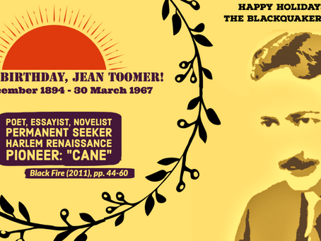 Happy Birthday, Jean Toomer!