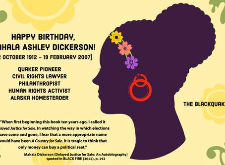 Happy Birthday, Mahala Ashley Dickerson!