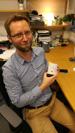 Clive very happy with his new mug