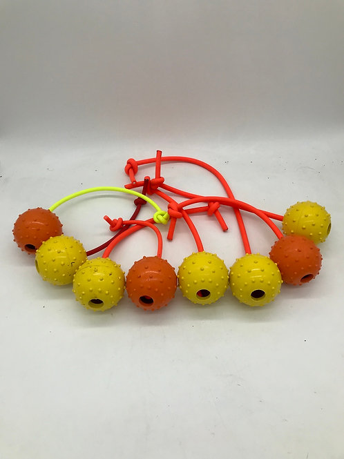 Rubber ball reward toy