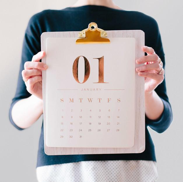 Boss Bage Calendar Design