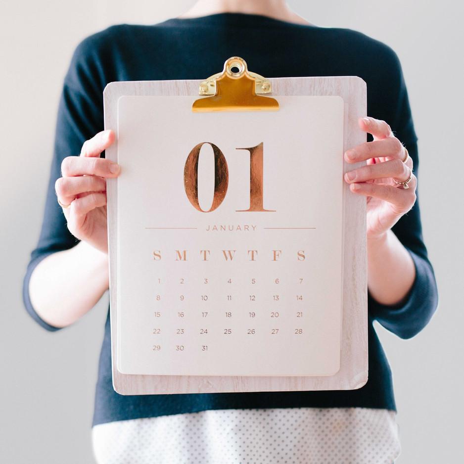 De stressing the Holidays: Calendar