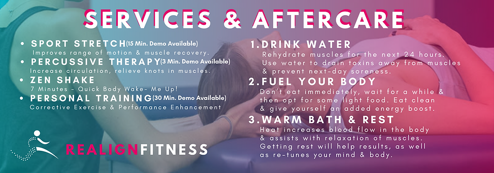 REALIGN FITNESS SERVICE & AFTERCARE BANN