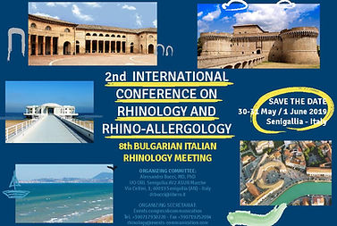 Save the date 2nd International Conference on Rhinology and RhinoAllergology 2019 Senigallia