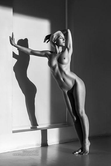 Nude art model