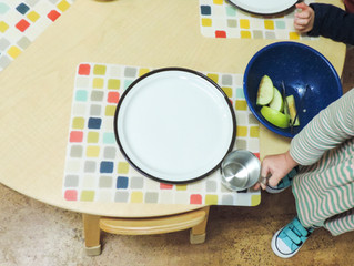 Toddlers Strengthen Skills by Setting the Table