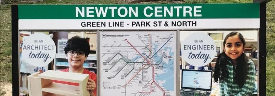 Newton Center Train Stop