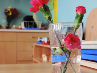 Primary Students Welcome Spring with Flower Arranging