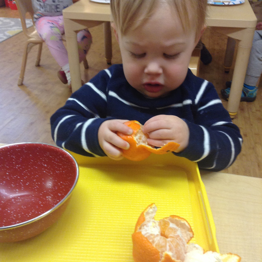 Peeling a Clementine