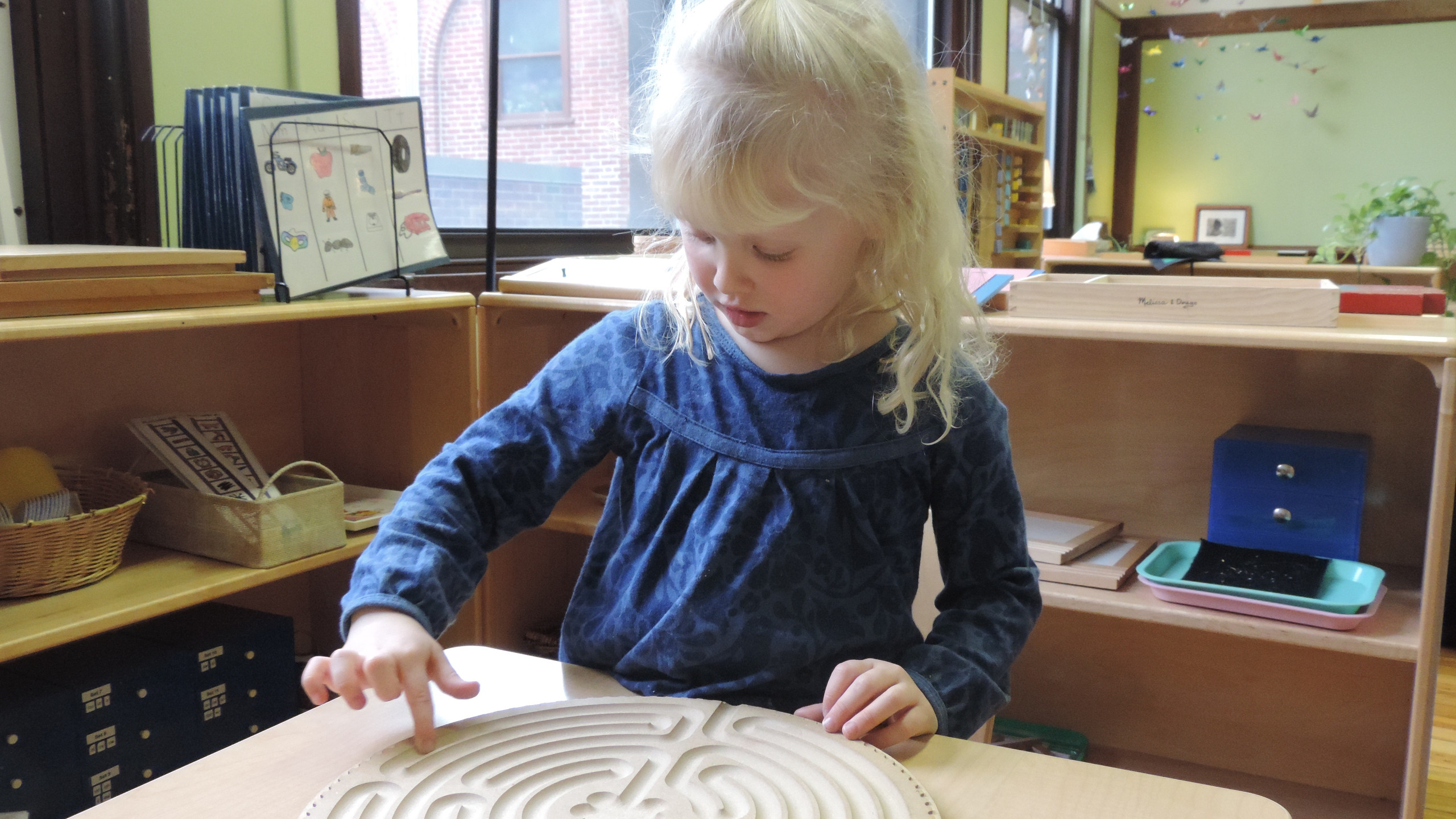 Tactile labyrinth to trace