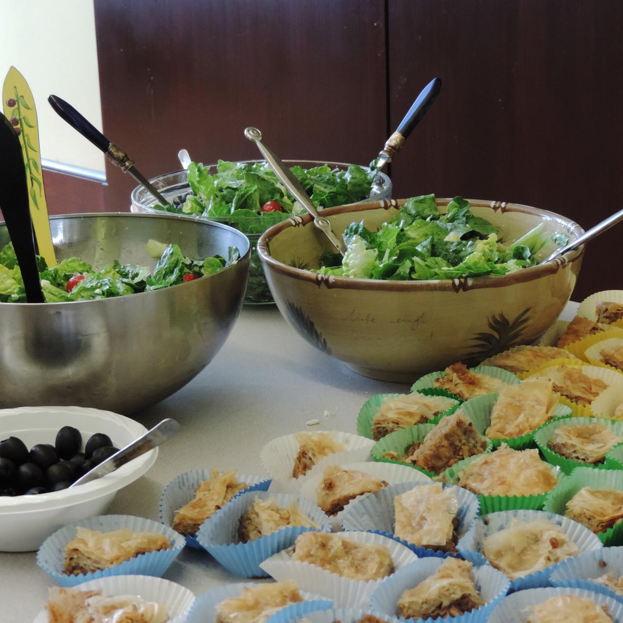 Greek Salad and Spanakopita