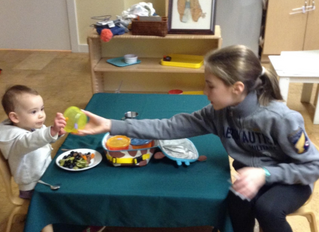NMS's New Lunch Buddies Program Brings Together Our Oldest and Youngest Learners