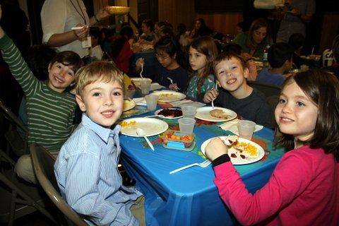 Students enjoying the Feast
