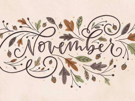 Snacks & Lunch Menu (November)