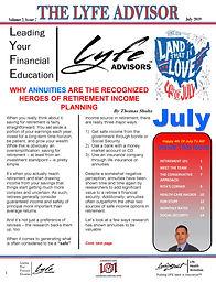 LYFE ADVISOR Newsletter July 2019 (FINAL