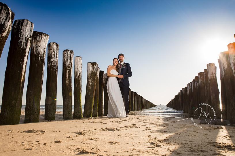 strand bruiloft