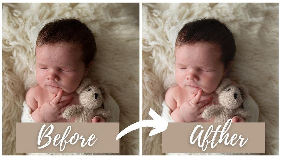 foto bewerking Newborn