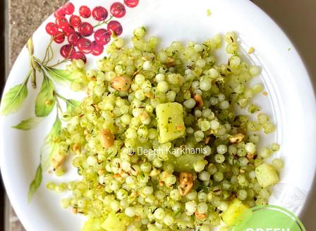 Green Sabudana Khichadi