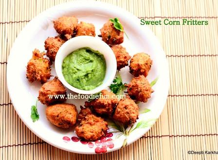 Sweet Corn Bhaji (Corn Fritters)