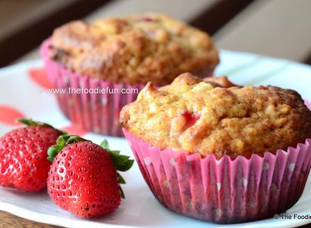 Strawberry Banana Healthy Muffins