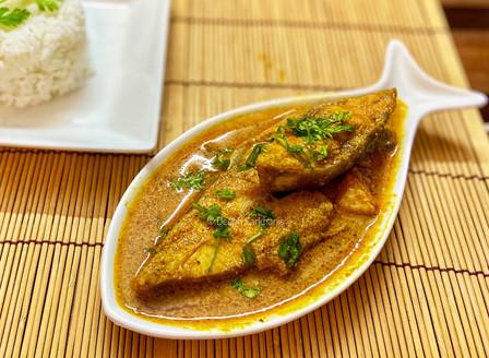 Halwa Kalvan(Black Promfret Curry)