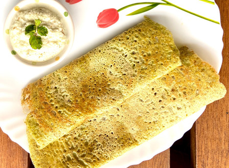 Green Moong Dosa